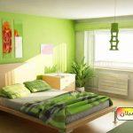 نقاشی منزل با رنگ روشن